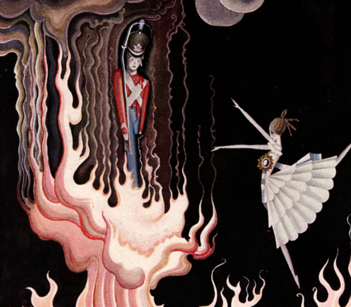 "Here we show a portion of 'The Hardy Tin Soldier' - a design by Kay Nielsen from his suite published in ""Fairy Tales by Hans Anderson"" (1923)."