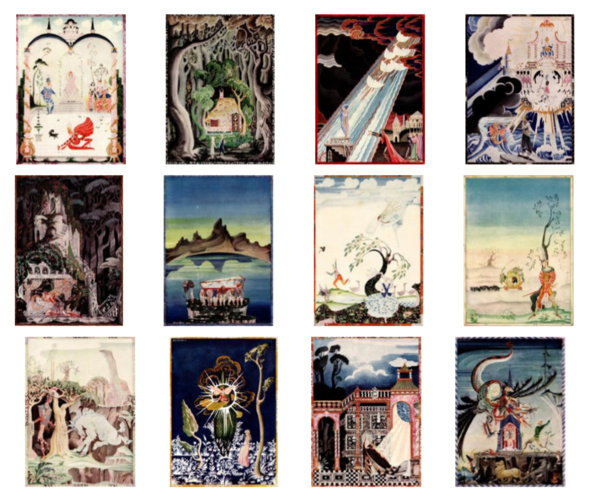 "Here we show each of the full-color designs by Kay Nielsen published in ""Hansel and Gretel and other stories by the Brothers Grimm"" (1925)."