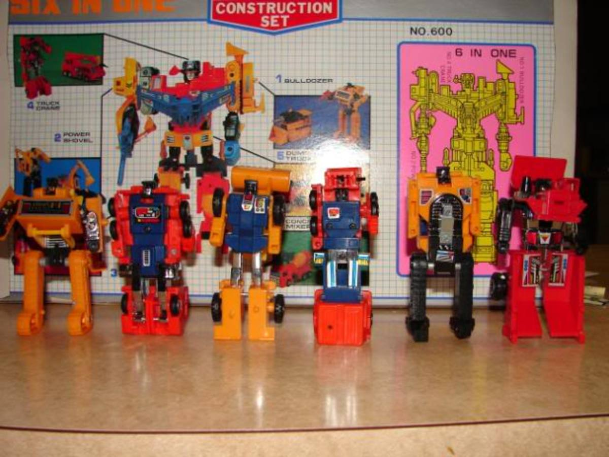 Diaclone Constructicons in Robot Form