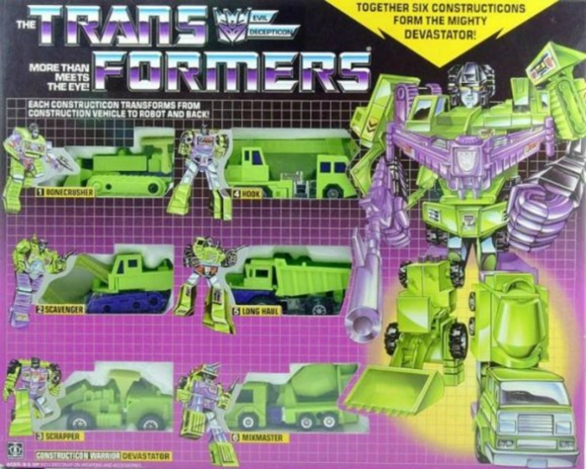 The original Devastator G1 Transformers Gift Set.