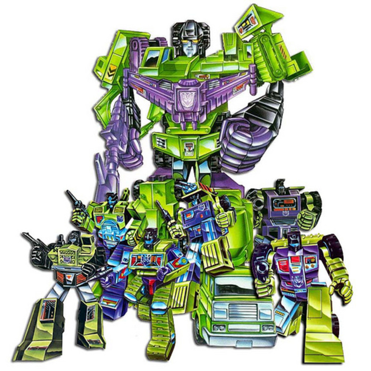 Comprised of six robots, Devastator was the first combiner.