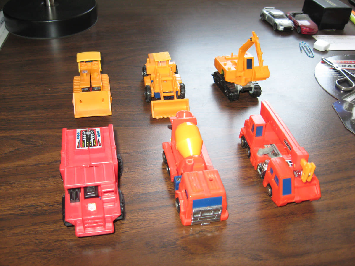 Diaclone Constructicons in Vehicle Form