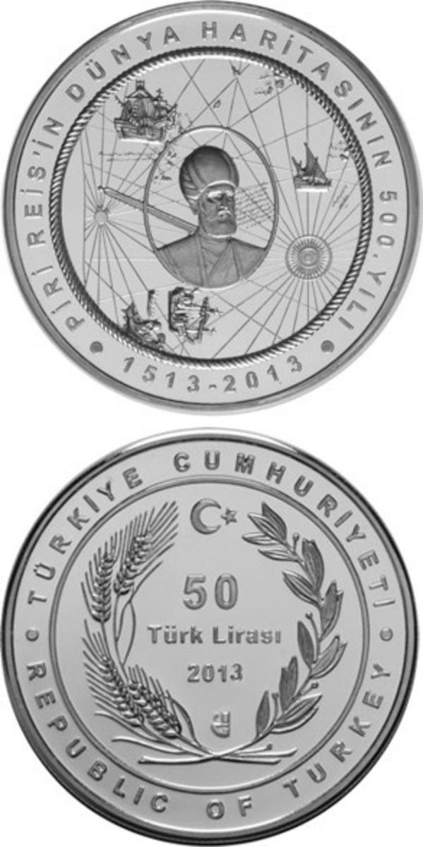 Turkish currency depicting the map.