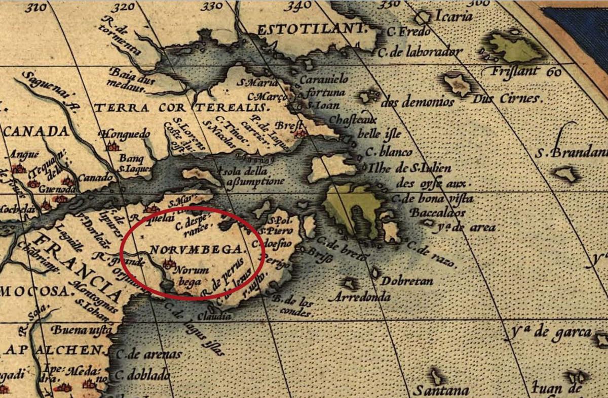A 1570 Atlas Showing Norumbega