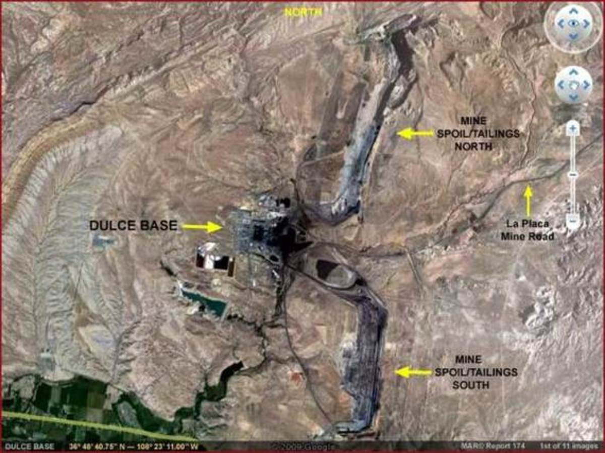 An overview showing the alleged site of the Dulce Base.
