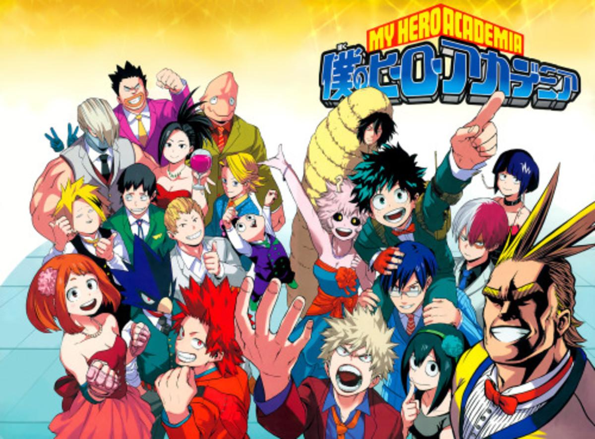 Boku no Hero Academia characters.
