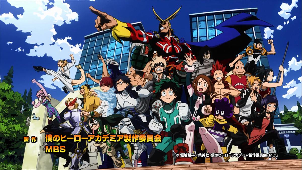 Boku no Hero characters.