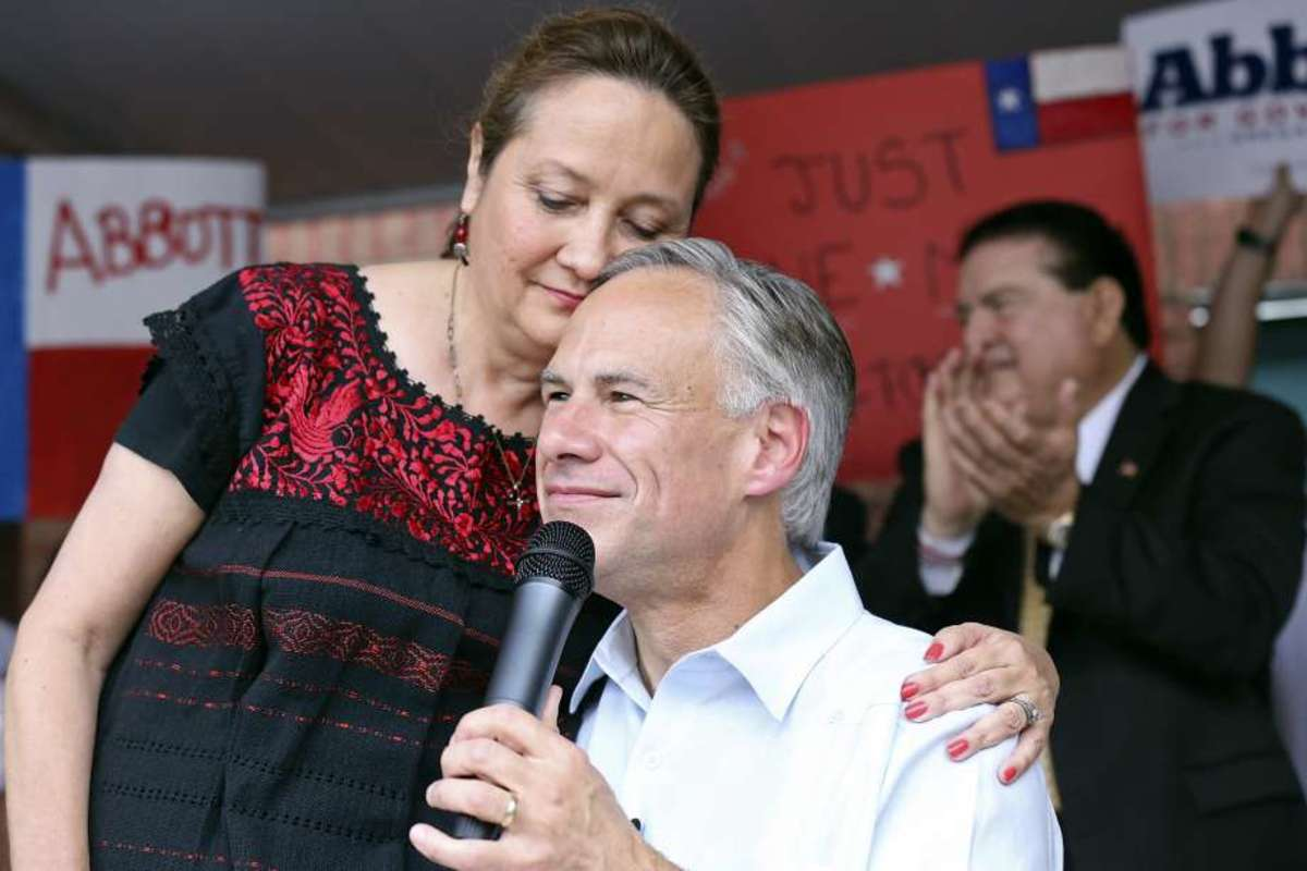 Governor Abbott and his wife