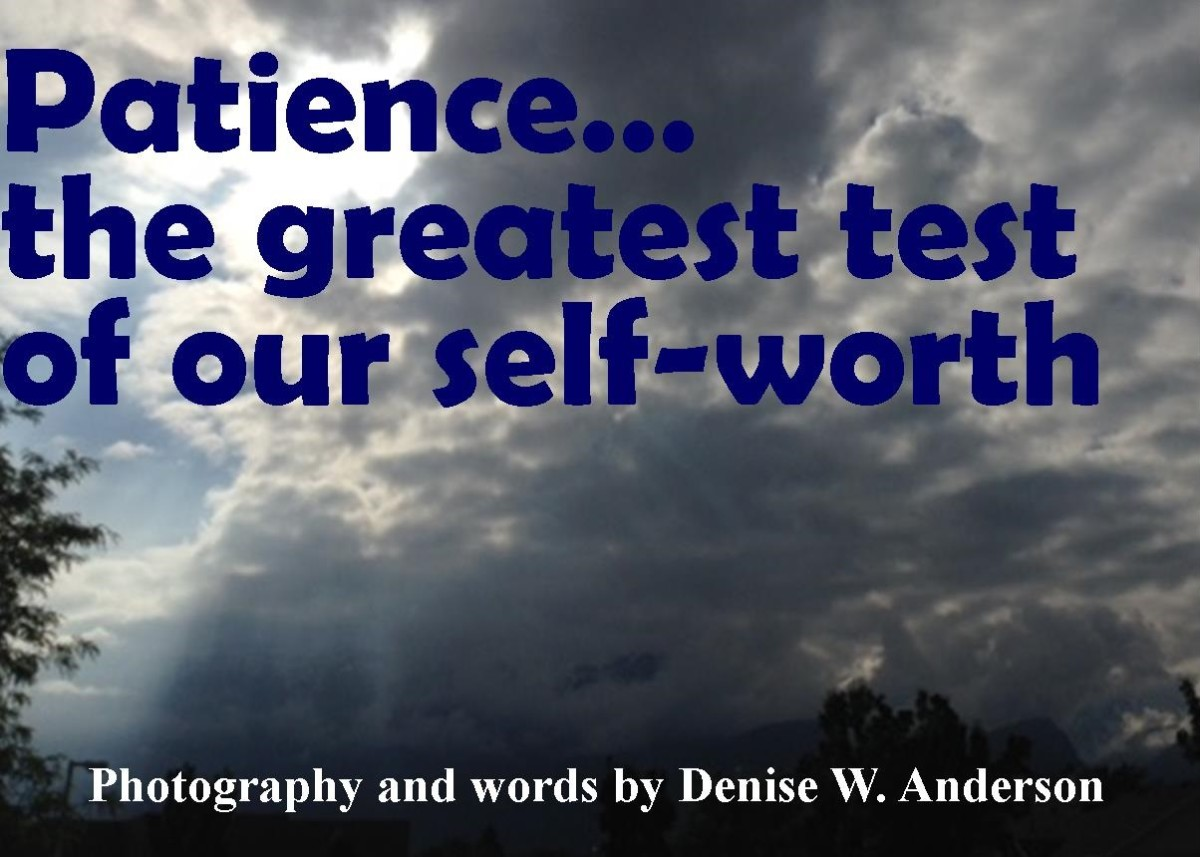 The greatest test of our self-worth happens when we need patience, but it isn't there.