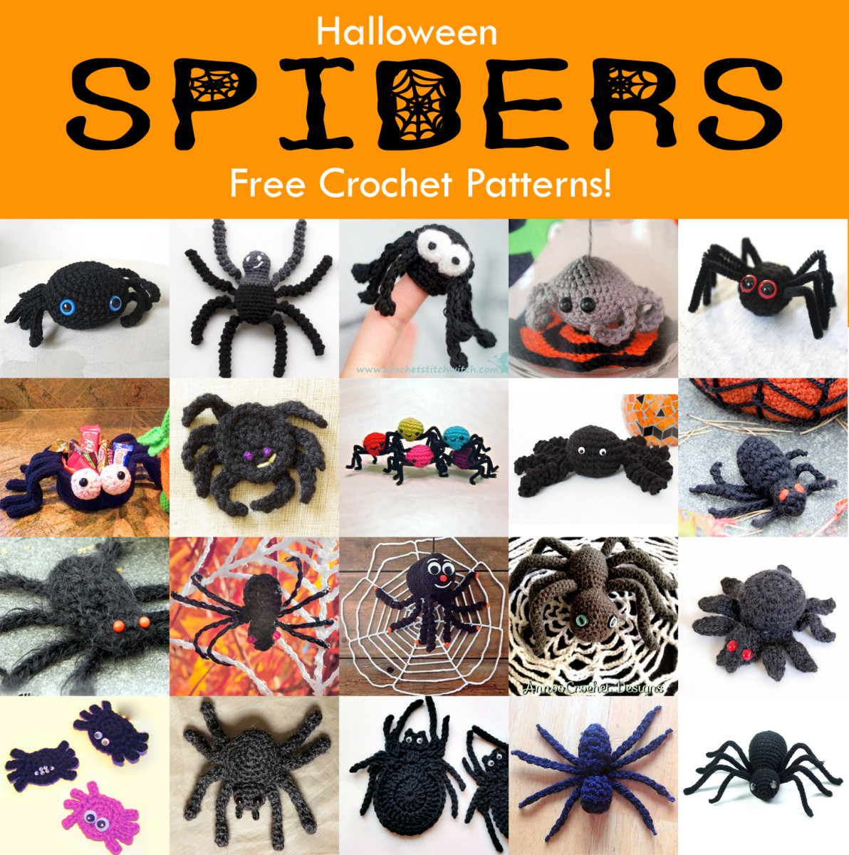 20 Free Halloween Spider Crochet Patterns