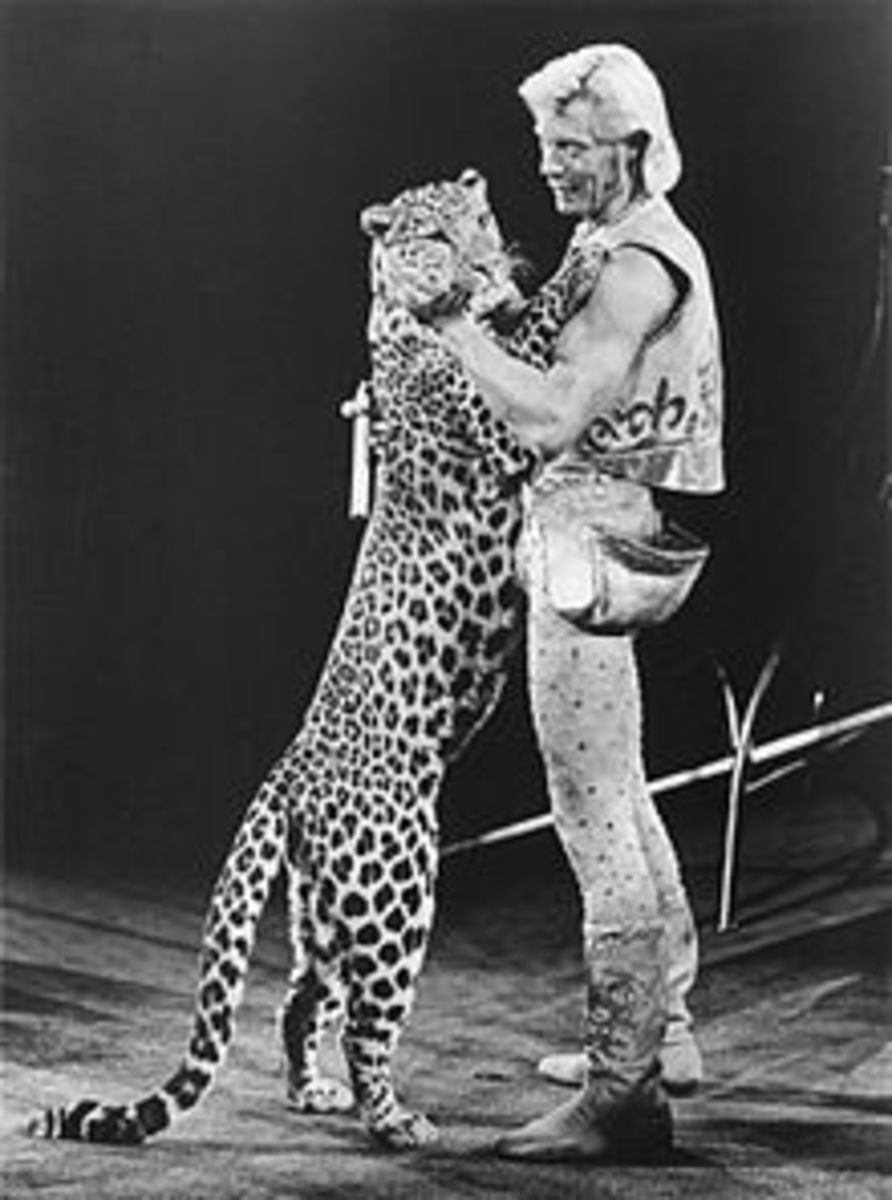 Gunther Gabel Williams performed at Ringling Brothers and Barnum and Baily Circus, 1968-1990.