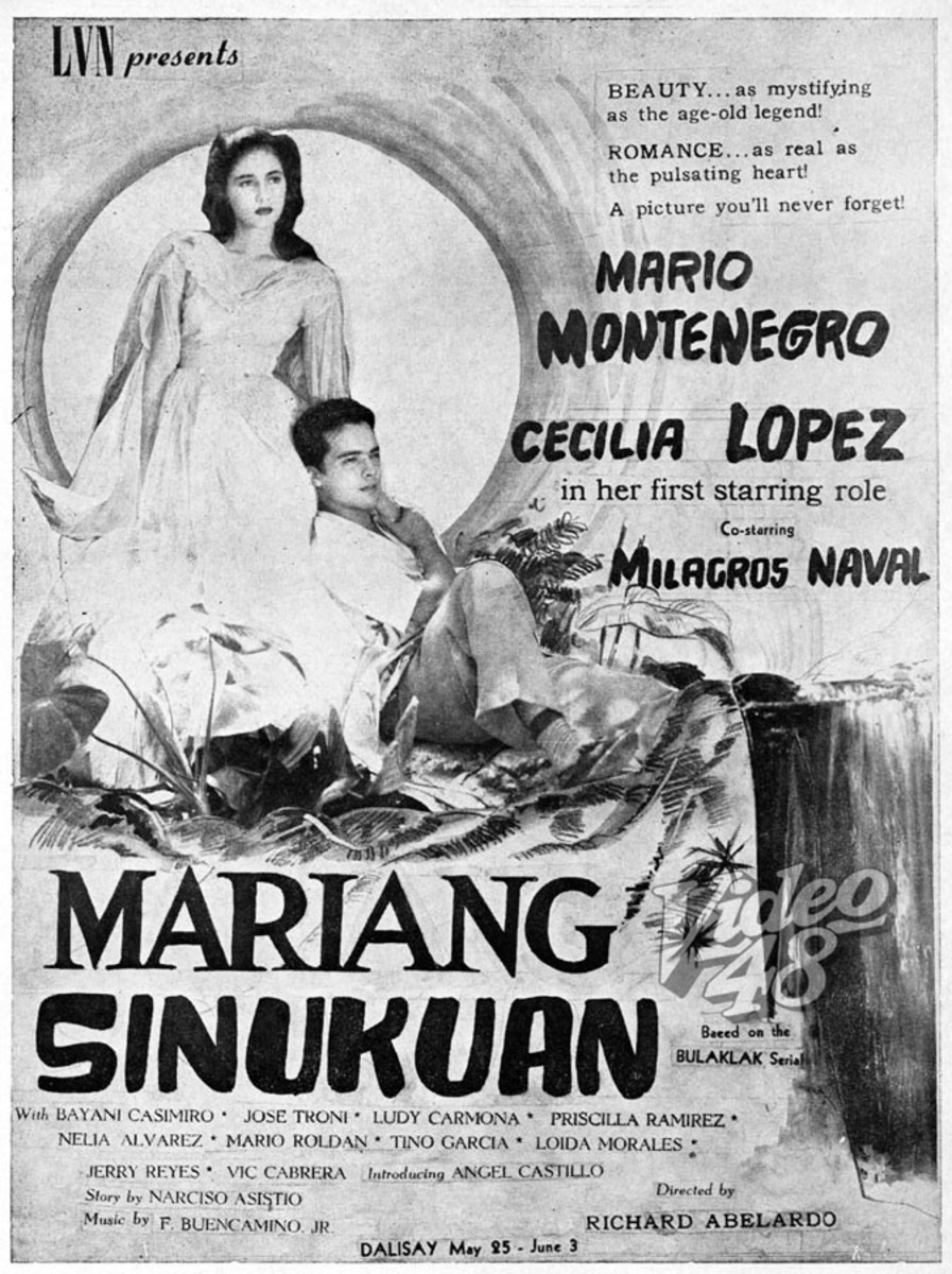 Mariang Sinukuan movie, 1955