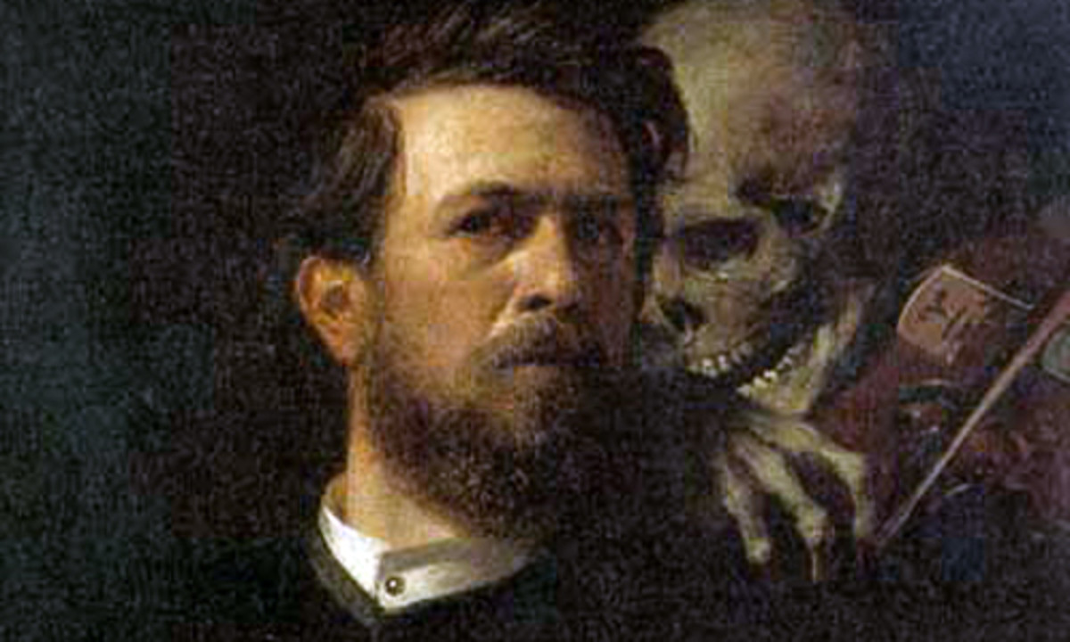 A depiction of Jack O' Kent with the Devil over his shoulder