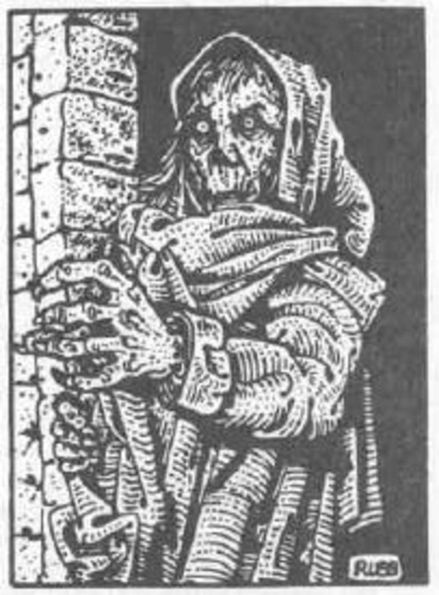 Image showing a Revenant, monster in the AD&D game. Dungeons and Dragons Fiend Folio, Don Turnbull, 1981.