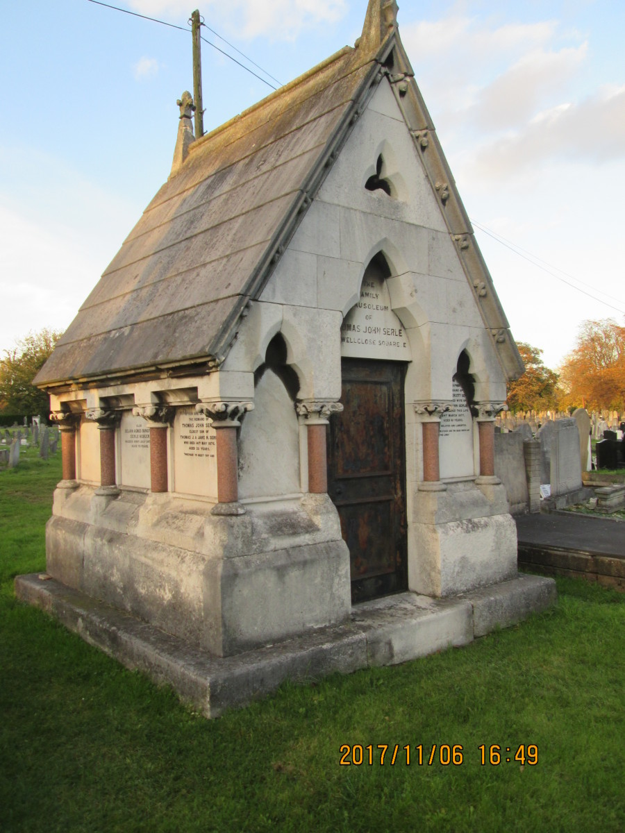 One of very few family vaults in Manor Park Cemetery - privacy guaranteed!
