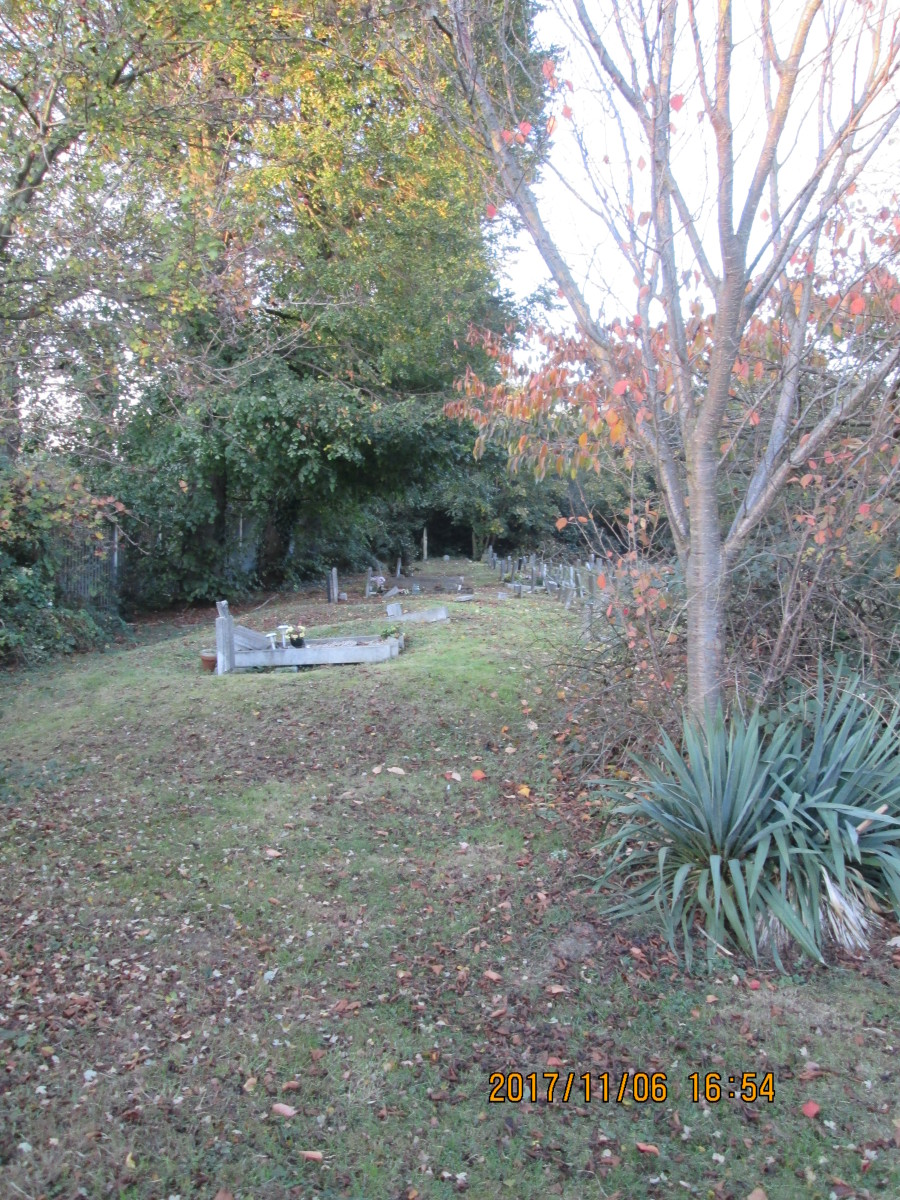 ...the older part of the cemetery, where stopping and looking a bit further left you see a few forlorn stones, like teeth sticking up from a lower jaw. The nearest ones still have flowers left by recent visitors.
