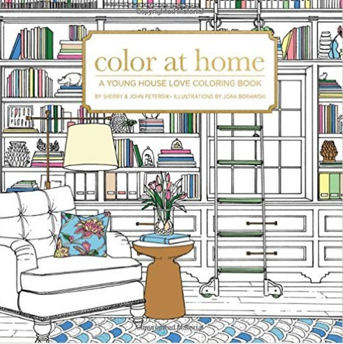 A colouring book for creative adults and art-inclined interior designers