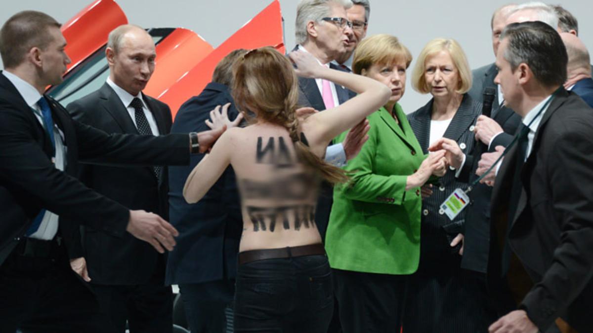 It seems that Putin is enjoying himself.