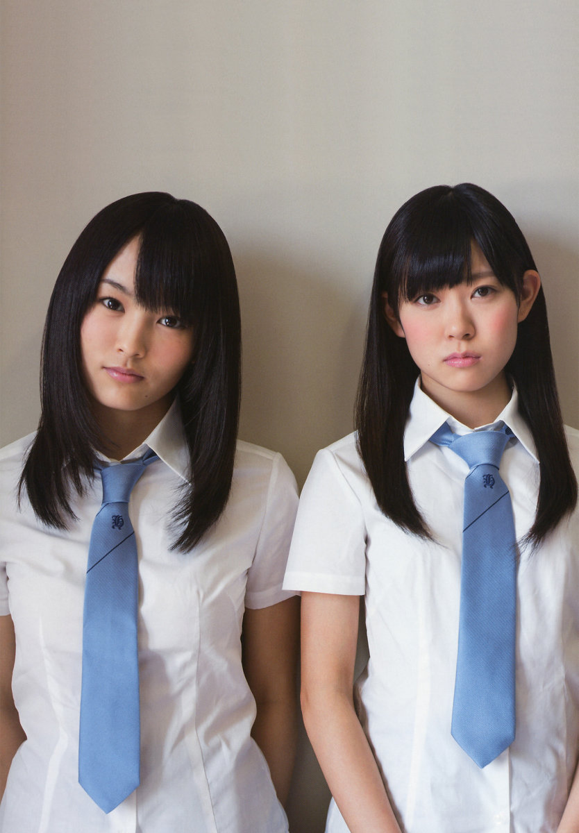 Sayaka Yamamoto (left) and Miyuki Watanabe (right) show that they are dressed with ties and showing some sophistication in the fashion department!