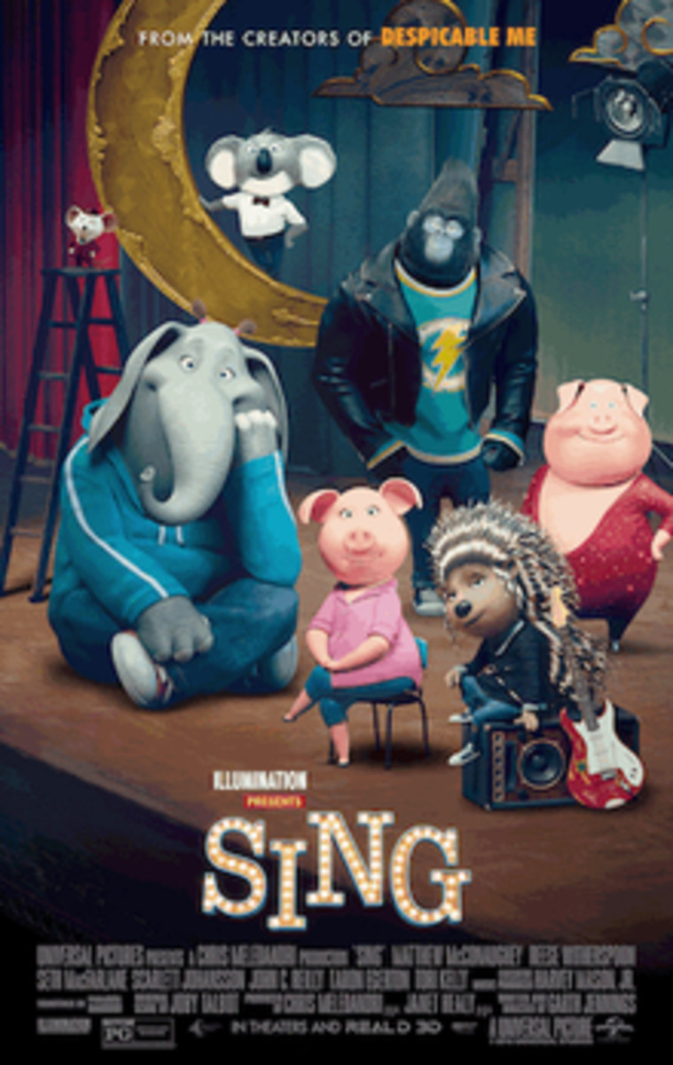 Movie review of Sing the movie