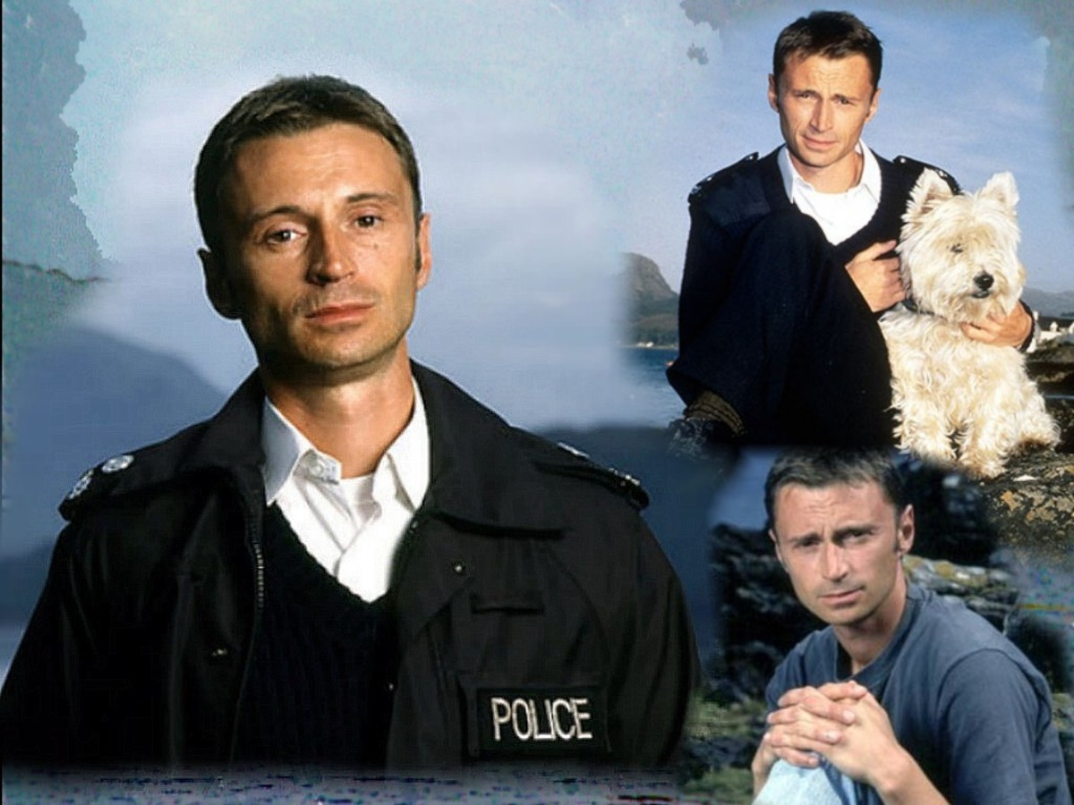 On the TV screen Robert Carlyle played Hamish Macbeth