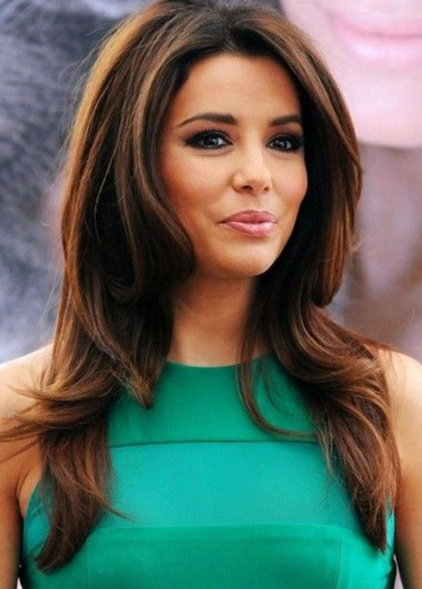 Eva Longoria gorgeous closeup and fabulous hairstyle