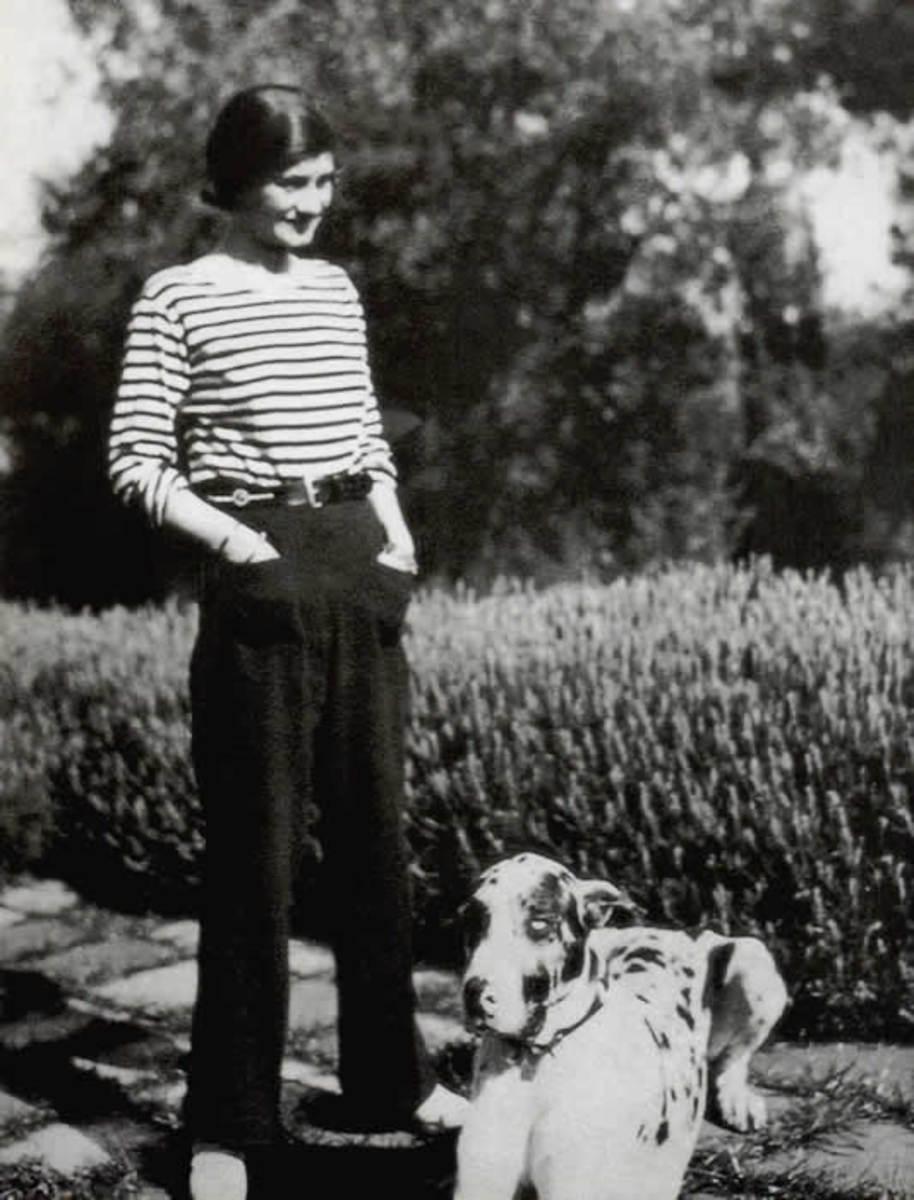 Navy and White Stripe Breton Shirt - Gabrielle (Coco) Chanel.
