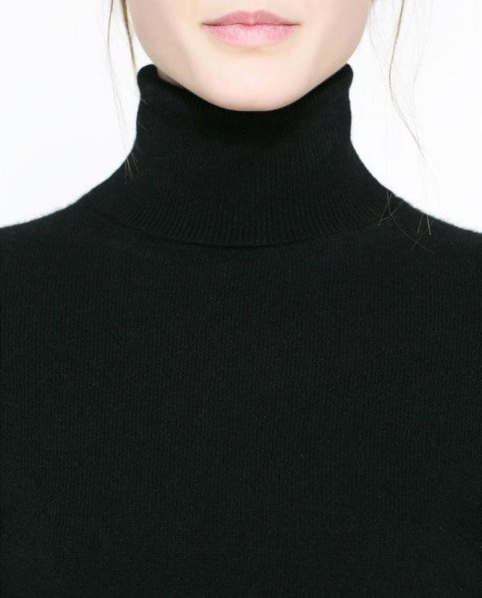 Zara Black Cashmere Turtleneck