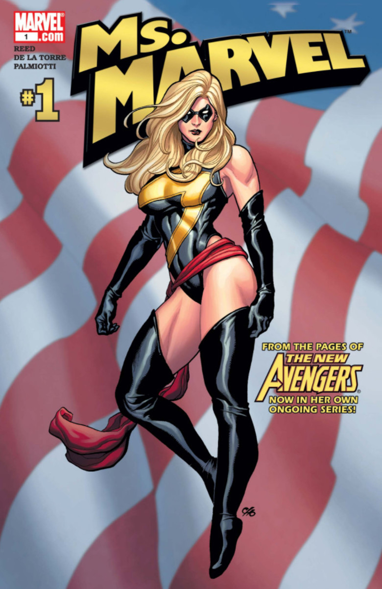 Cover to Ms. Marvel #1 volume 2
