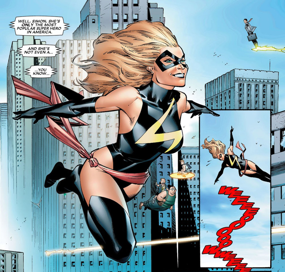 Intro of Carol Danvers in House of M as Captain Marvel...not named as Captain Marvel.