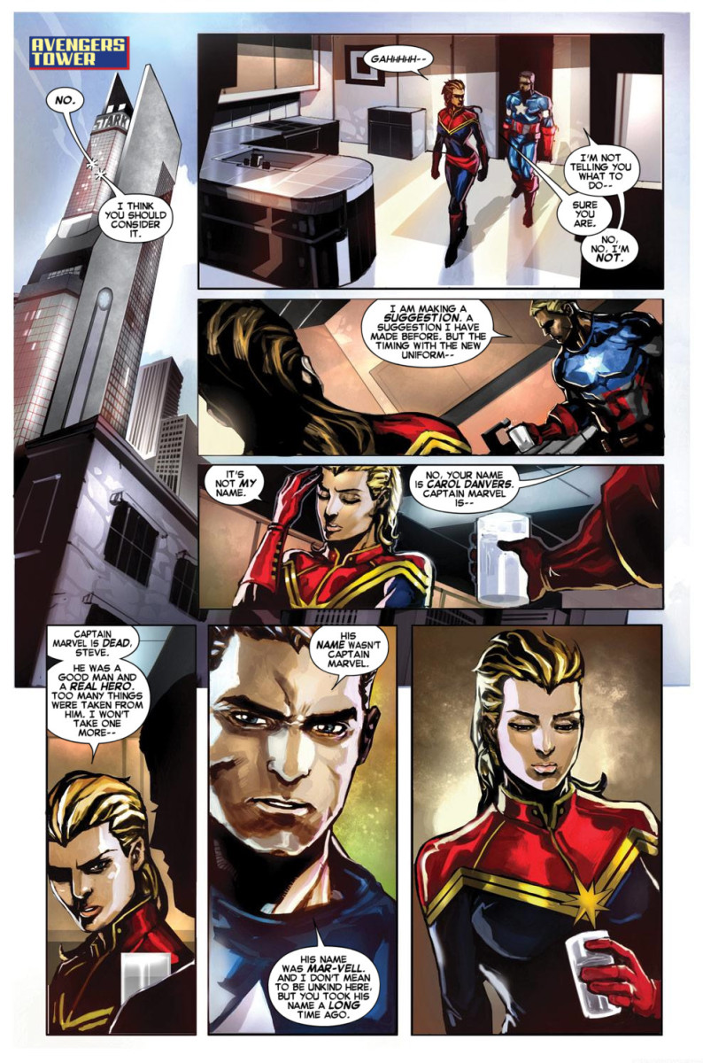Page from Captain Marvel #1 2012