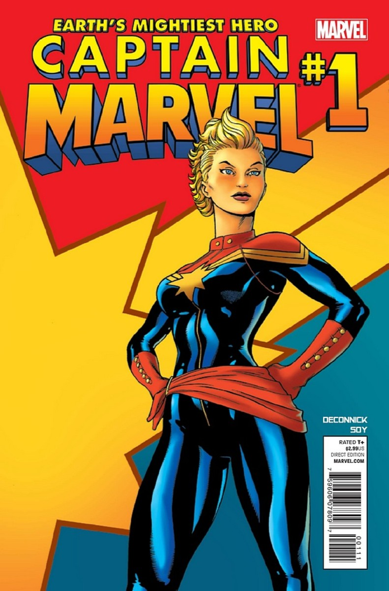 Cover to Captain Marvel #1 2012