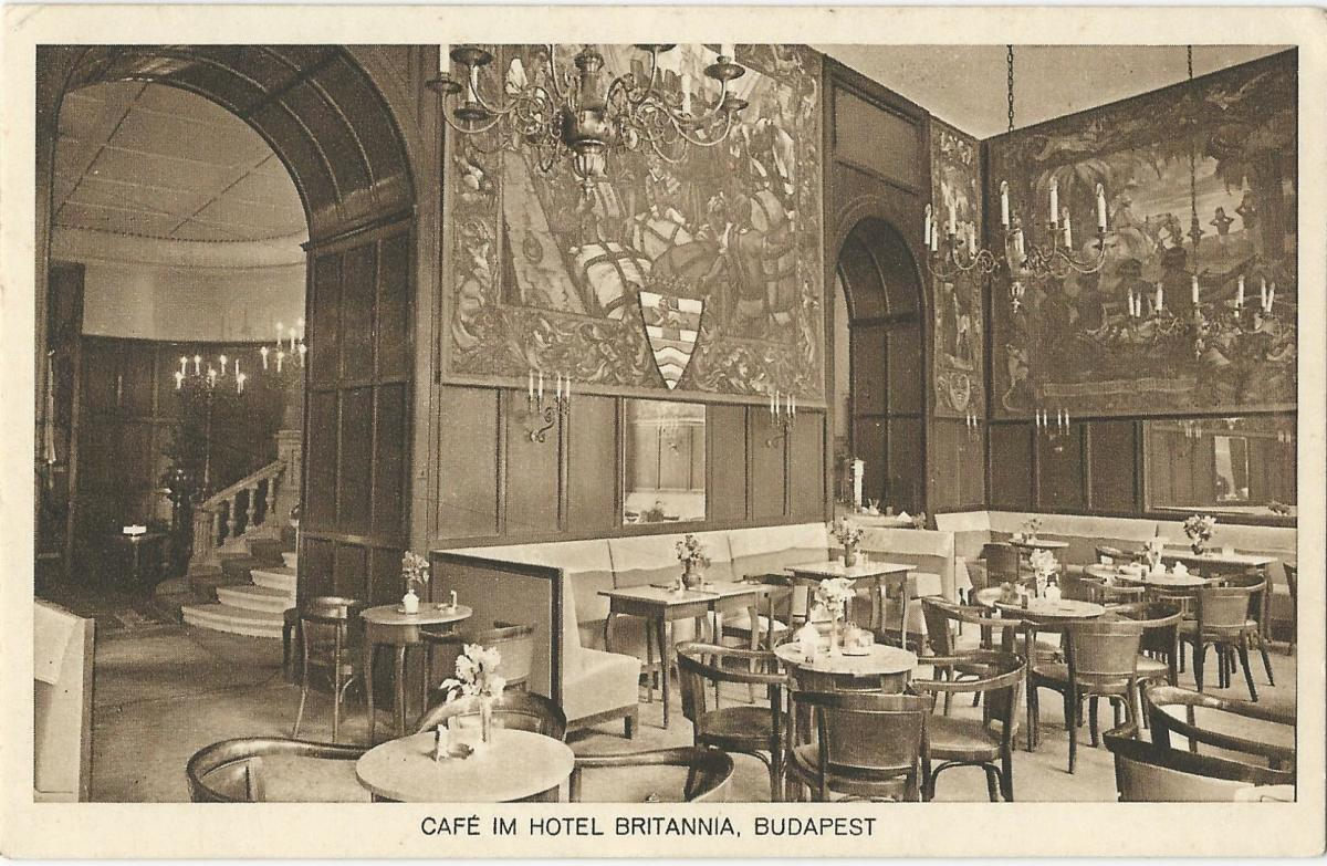 What was a luxury hotel like in Budapest 100 years ago?