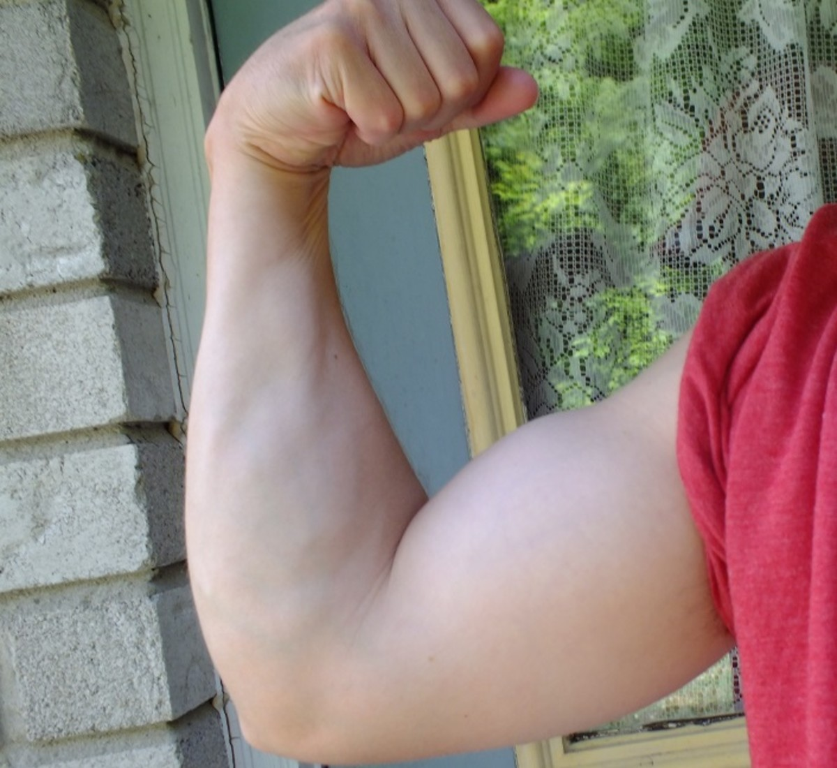 Bigger biceps from doing chin ups.