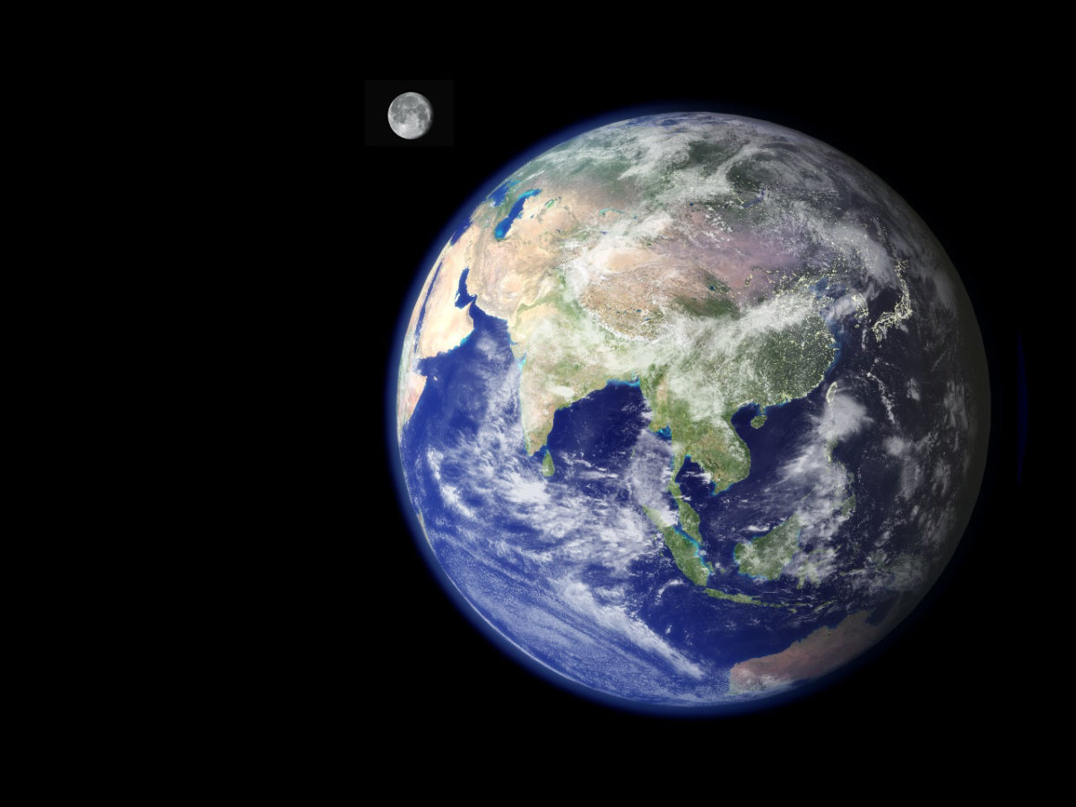 Earth as pictured from space.
