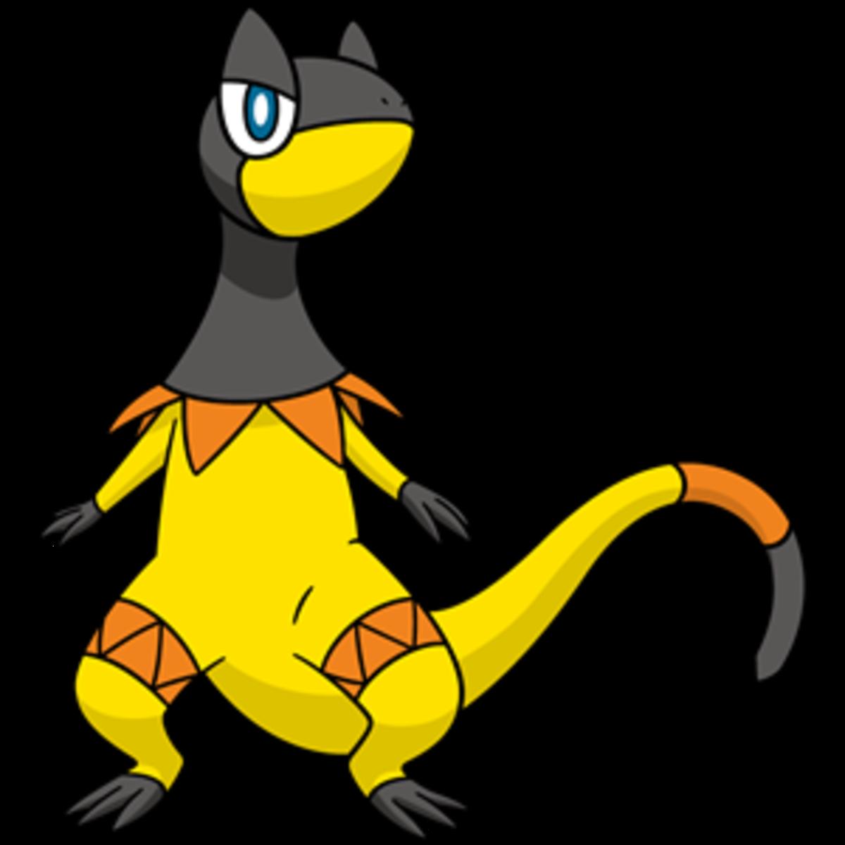 "Heliolisk, the ""Generator"" Pokémon"