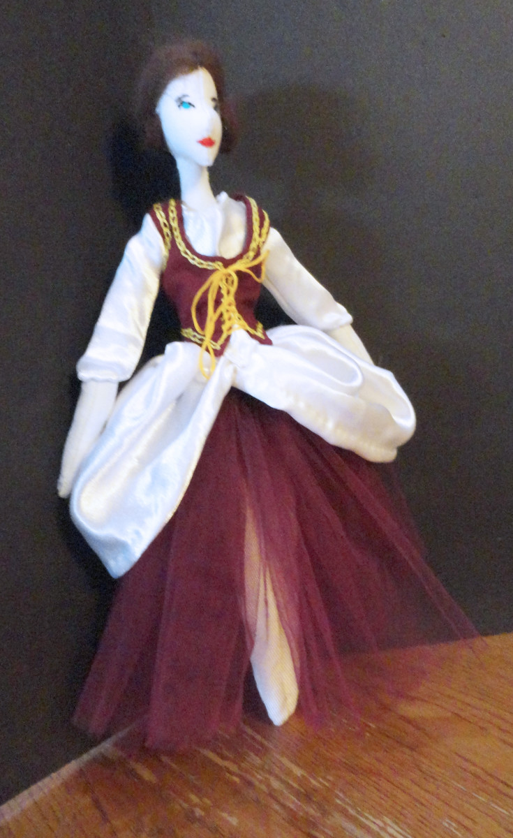 The first ballerina with modified bodice