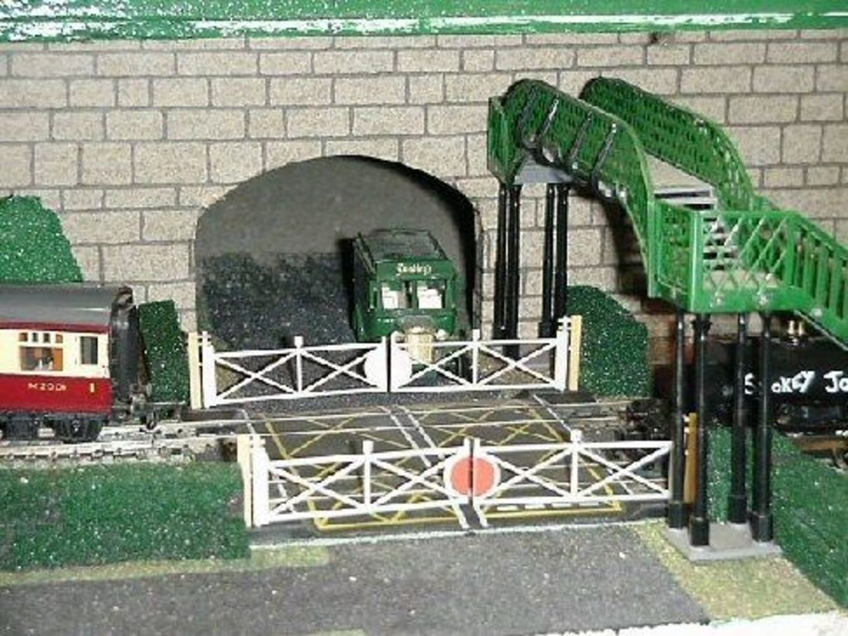 Level crossing on underground (subway).