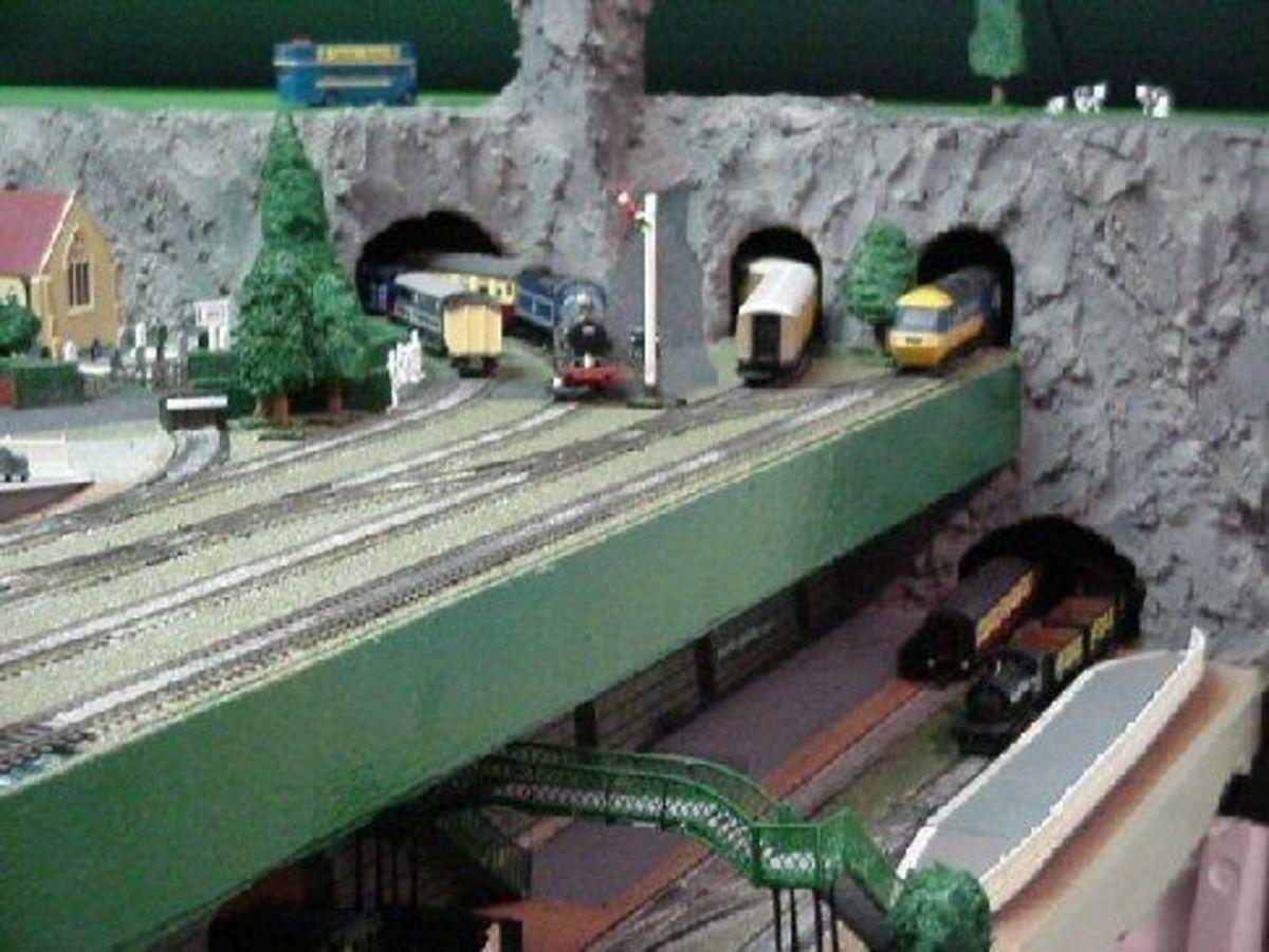 Model underground (subway) railway station