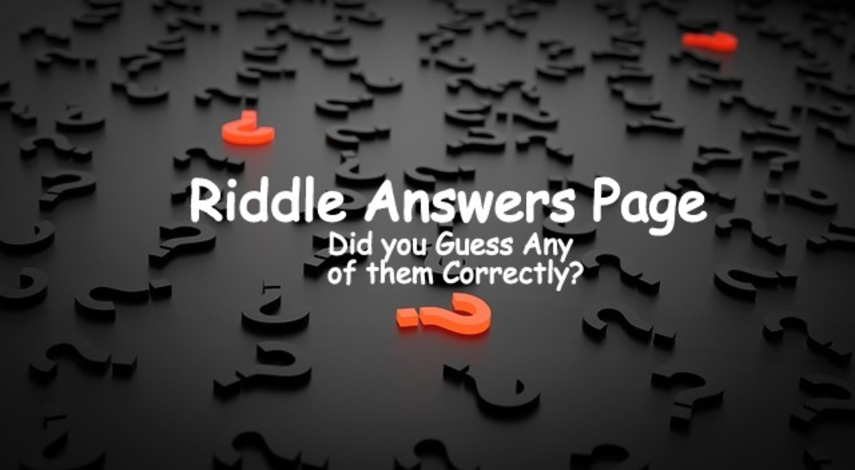 Riddles Answer Page - Are You Stumped?