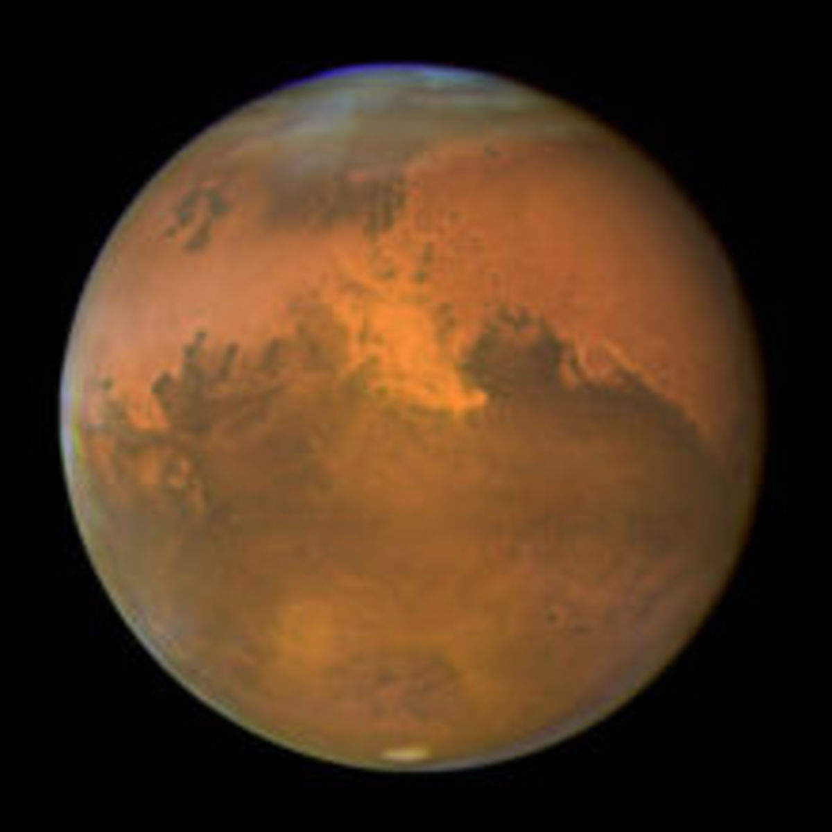 A Picture of the Hot Planet 'Mars'