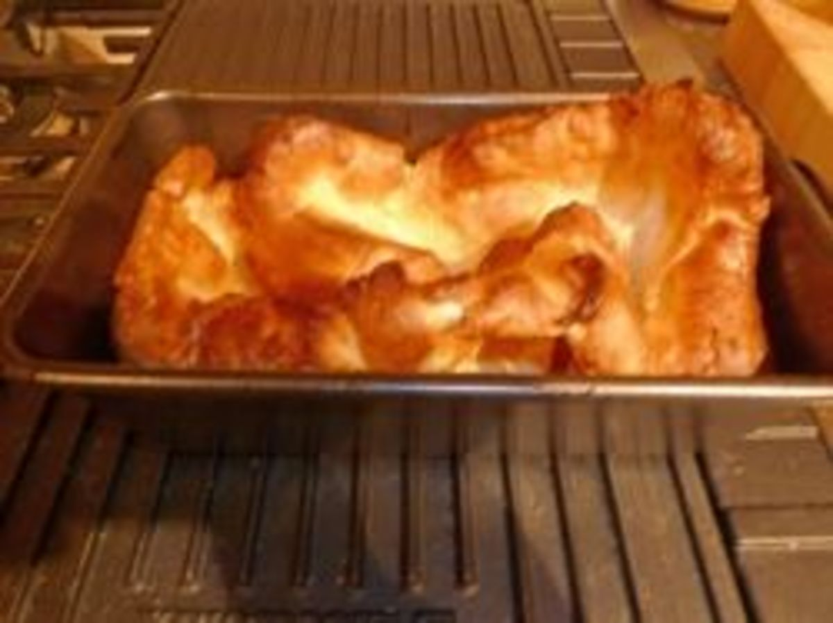 My Yorkshire pudding made in a loaf tin