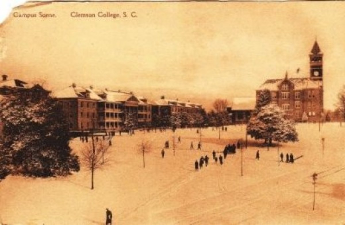 Vintage Clemson College Postcard