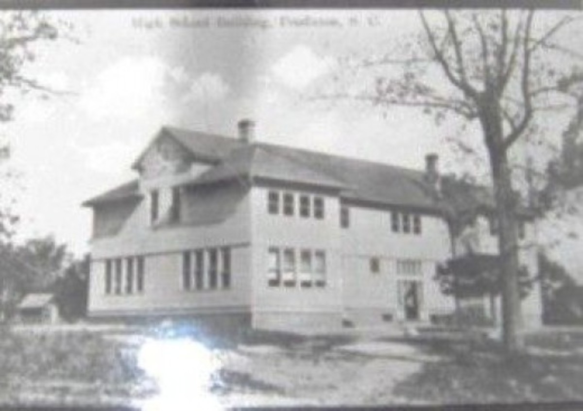 Old Pendleton High School torn down around 1924