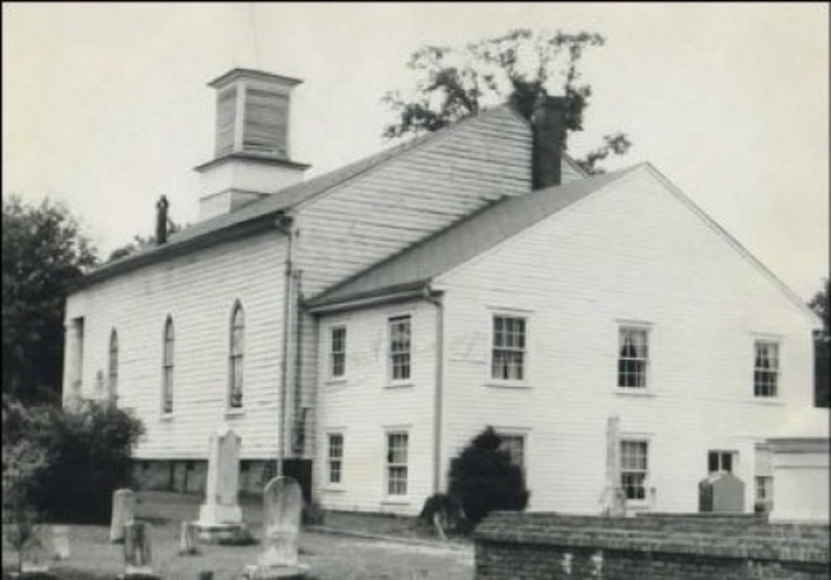 HISTORIC PHOTO OF FIRST BAPTIST CHURCH in Pendleton SC