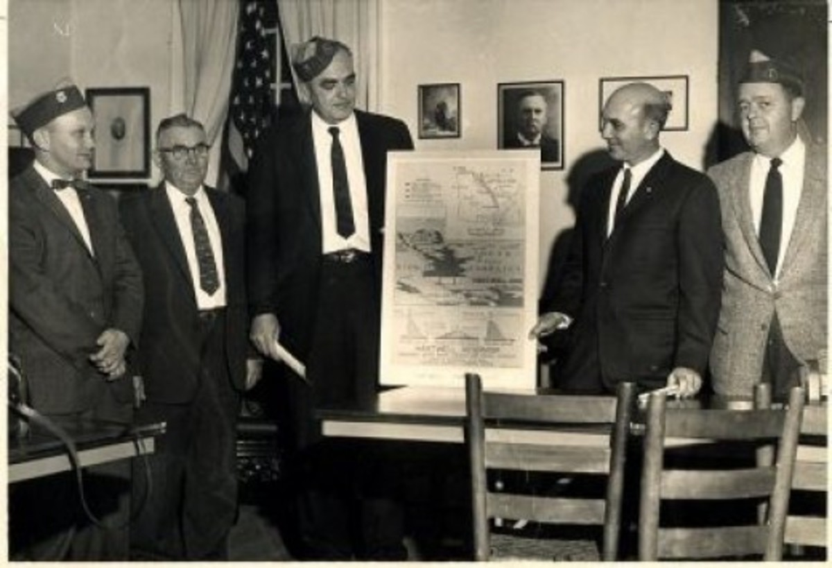 Pendleton Lions Club views plans for Hartwell Reservoir 1958