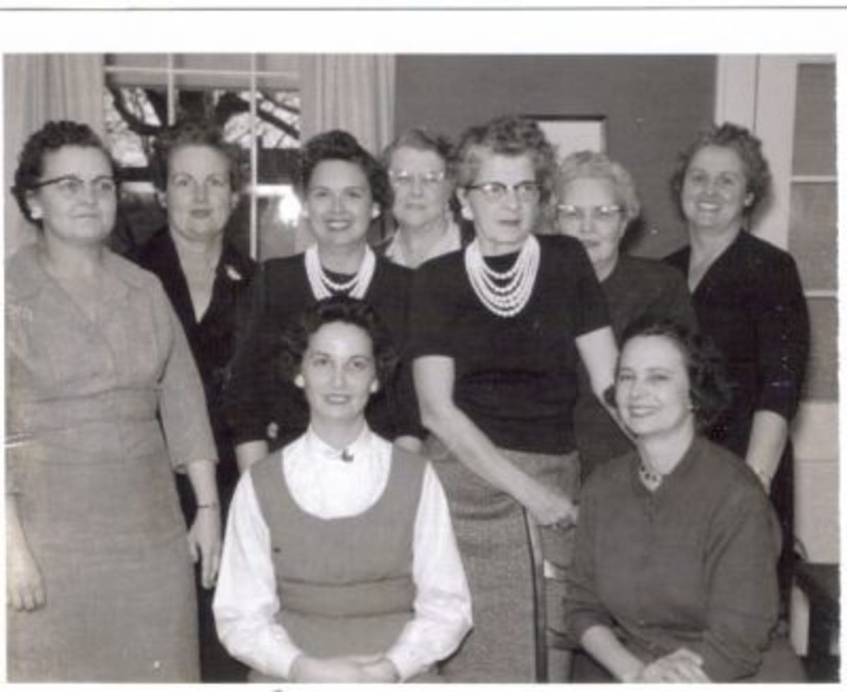 Ladies Bridge Club (1950's) contributed by Sheila Sloan Sellers