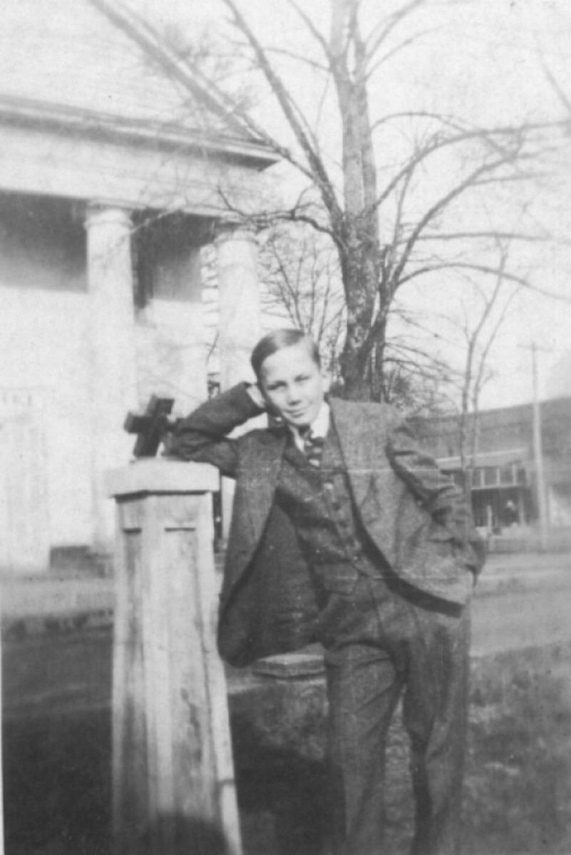 J.C. Sloan, Sr about 15 or 16 yrs old