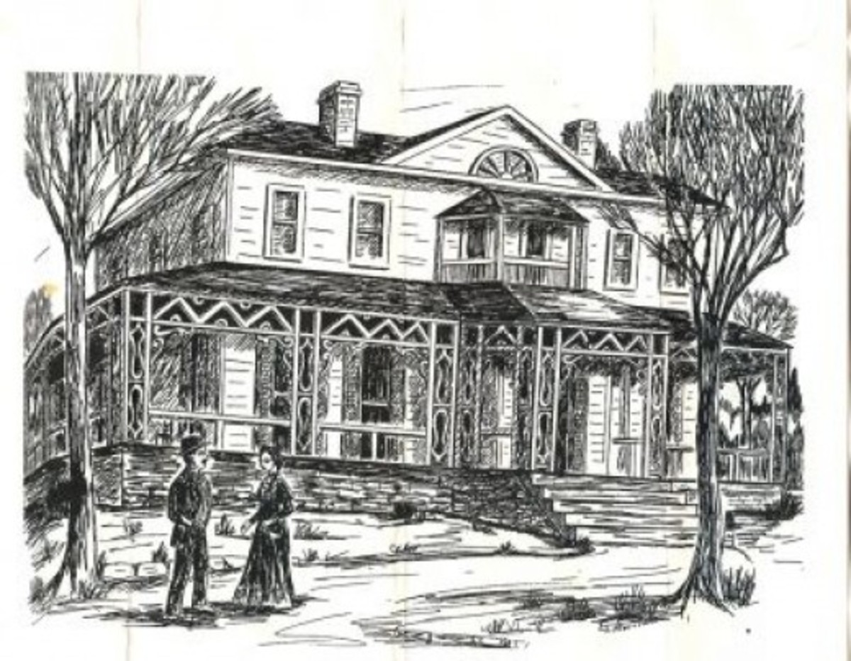 Sketch of the Summers' Home at Boscobel