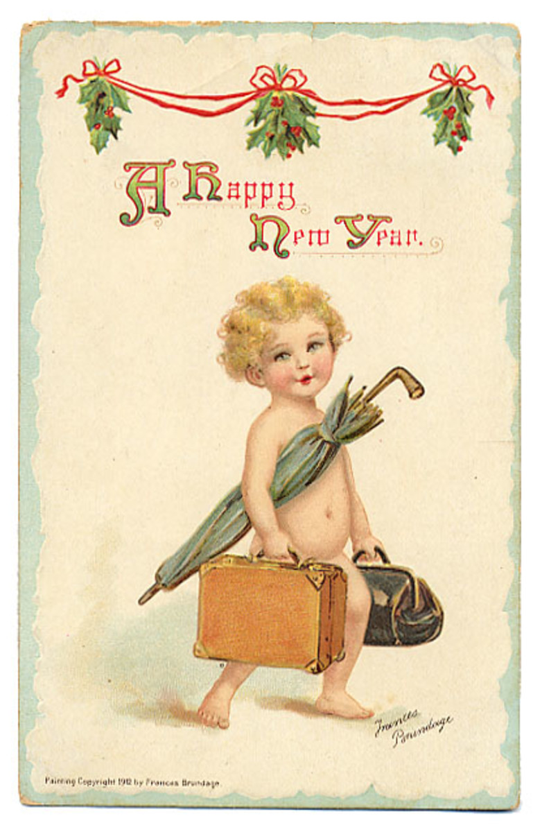 New Year Cards: Baby New Year